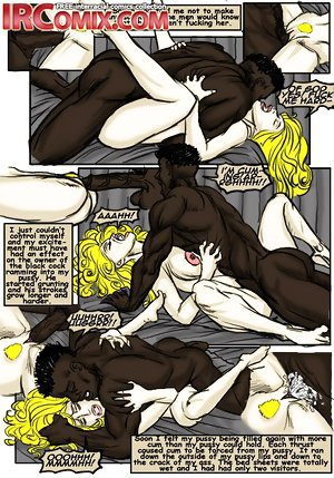 Glamorous white slut fucked by black in the hot interracial comix