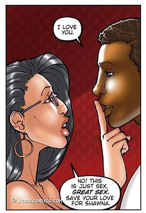 Cool big-tittied chick is flirting with ebony guy in interracial toons
