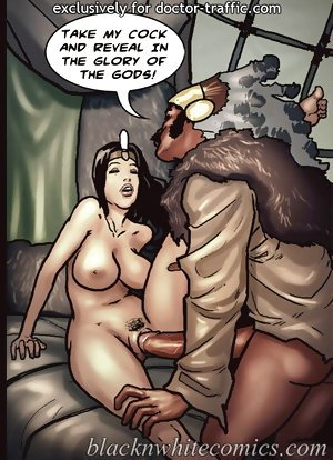 I want dark face cock badly on interracial porn toons! Fuck me good and I'll help you escape!