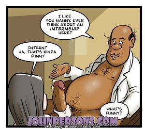 interracial John Person comics showing white girls choking on BBC