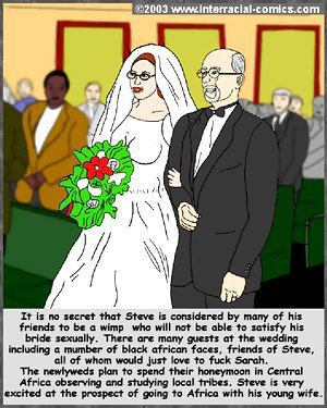 Just married white couple become slaves in Africa ir toons