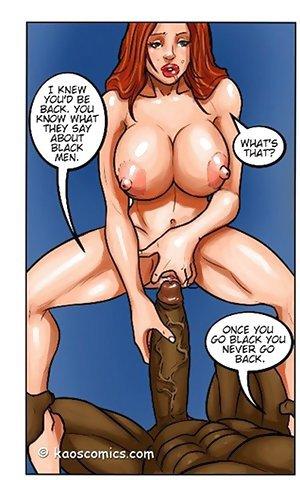 Kaos comics interracial sex cartoon with a sloppy deepthroat and xxx banging