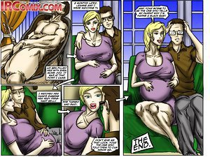 Double penetration for blonde in the interracial porno comics